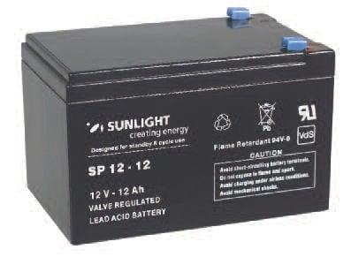 Акумулатор SUNLIGHT 12V 12AH  SPA