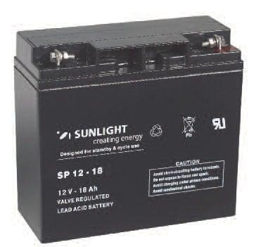 Акумулатор SUNLIGHT 12V 18AH  SPA