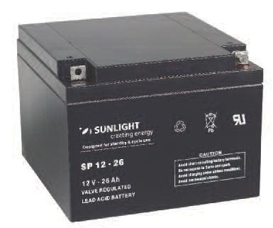 Акумулатор SUNLIGHT 12V 26AH  SPA