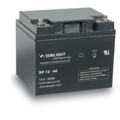Акумулатор SUNLIGHT 12V 40AH  SPA