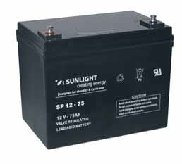Акумулатор SUNLIGHT 12V 75AH  SPA