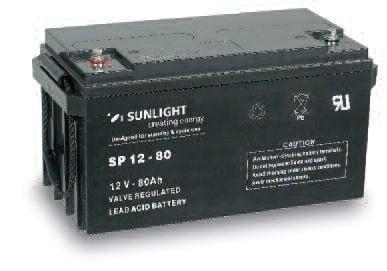 Акумулатор SUNLIGHT 12V 80AH  SPA