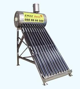 Слънчев вакуумен колектор EMDE-solar MDSS420-47/1500-8 -70л. термосифонен,нераждаем без отражатели
