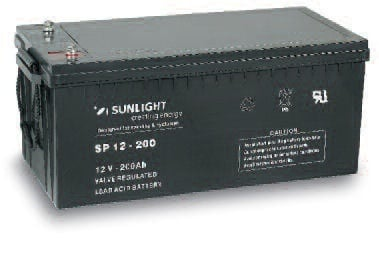 Акумулатор SUNLIGHT 12V 200AH  SPA