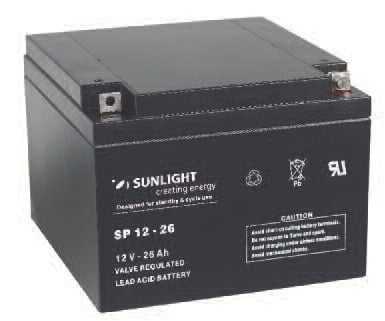 Акумулатор SUNLIGHT 12V 26AH  SPA
