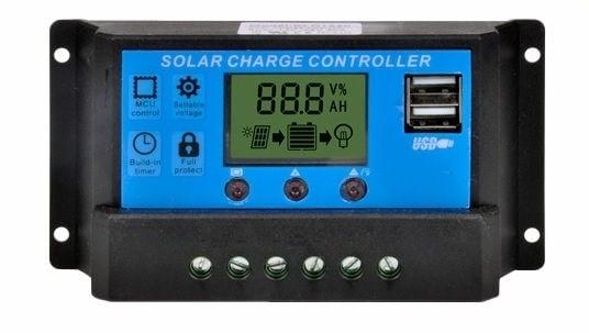 Контролер регулатор за соларни панели 12V-24V/ (10A) YJSS-10A с двойно USB
