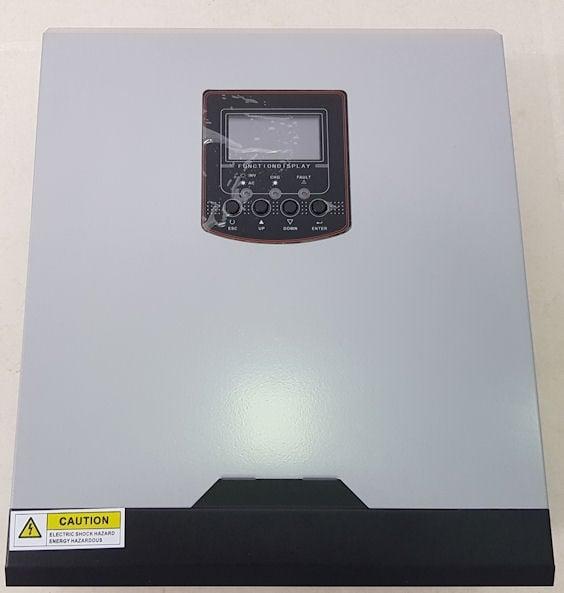 Хибриден слънчев инвертор със соларен контролер и 60A зарядно устройство HY3022P OFF GRID SOLAR  3KVA 2400W 50A PWM