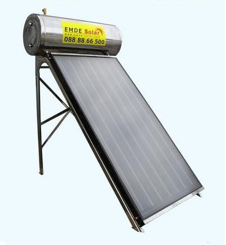 Плосък слънчев колектор EMDE-solar MDSS480/380-PS-80/1-P -150L. - затворена система с водосъдържател,под налягане